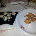 alem das carnes ainda ha os sushis e os pratos quentes, fora os frios