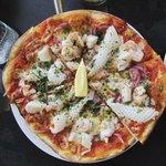 """Florida"" seafood pizza"