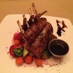 wonderful rack of lamb is the house specialty
