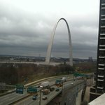 Great view of the Arch from our room.