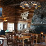 Main dining room & fire place