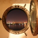 The view of the porthole.
