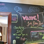 Chalk/message board