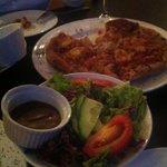 yummy pizza & salad