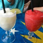 1 Margarita & 1 Strawberry Margarita great drinks!