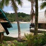View from resort to overwater villas