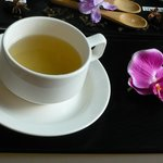 Ginger tea served in the spa