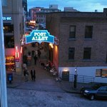 View of Post Alley from our corner room.