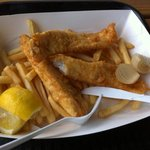 yummy fish & chips - not greasy!!!