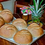 Some of the delicious home made bread