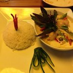 green curry poulet