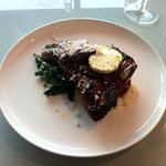 T-bone steak, Ox tongue braised greens