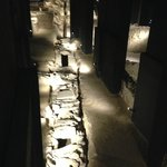 Inside the museum, a roman street