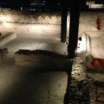 Roman spa with a pool and furnace