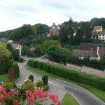 Vue de notre chambre sur la campagne alsacienne