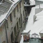 Un mañana nevada desde mi habitación