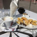 A coffee and a small selection of yummies. £2.50!