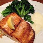 Salmon, broccoli and mash potatoes
