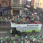 St Patricks Day Parade thru our window