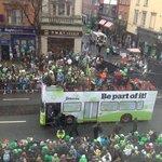 St Patricks Day Parade thru our window