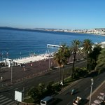 View from the room overlooking beach and promenade des anglais