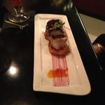 Tourched Jumbo Sea Scallops with Blueberry Cajun Barbeque Sauce