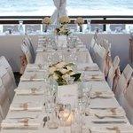 Wedding marquee on the ocean deck