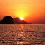 Magnificent sunset around the corner, Aigialia