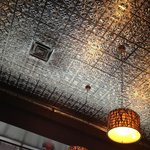 Old fashion tin ceiling.