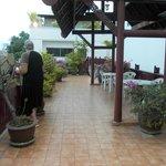 Roof top sun bathing area