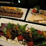 Beet Salad/ Kabob/ Bread plate