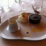 moelleux au chocolat aux éclats de pistache