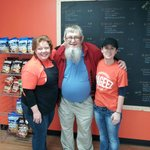 The Chocolate Professor (Neal Ambron) with Christine & Linda