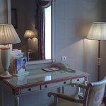 Desk area in the hotel