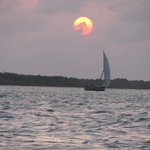 Sunset and a small dhow
