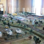 model of the depot and surrounding area as it appear 1860