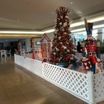Hotel foyer Christmas decorations