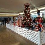Hotel foyer Christmas decorations