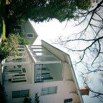 huis met zicht op veranda