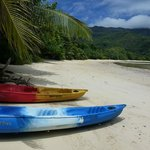 La plage privée coté Sud