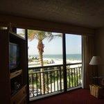 Wohnzimmer mit Sicht zur Beach