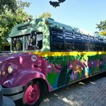 one of the colurful bus's that will take you to xplore or xel-ha