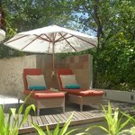 Sunloungers on our private terrace