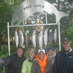 Happy Anglers with Silver Salmon - Sept 5, 2012