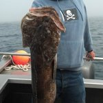 Ed Qnaley with nice lingcod caught on July 19, 2012
