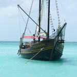 Pirate Ships off the beach