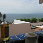 View looking out from the Casita kitchen accross the private terrace towards the Bay of Banderas