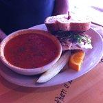 Tomato basil; half a Parker