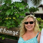 In front of the Sea Change Sign