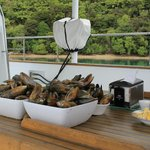 Mouth-watering fresh mussels from the farm.